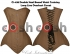 BROWN COTTON WAIST TRAINING OVERBUST CORSET