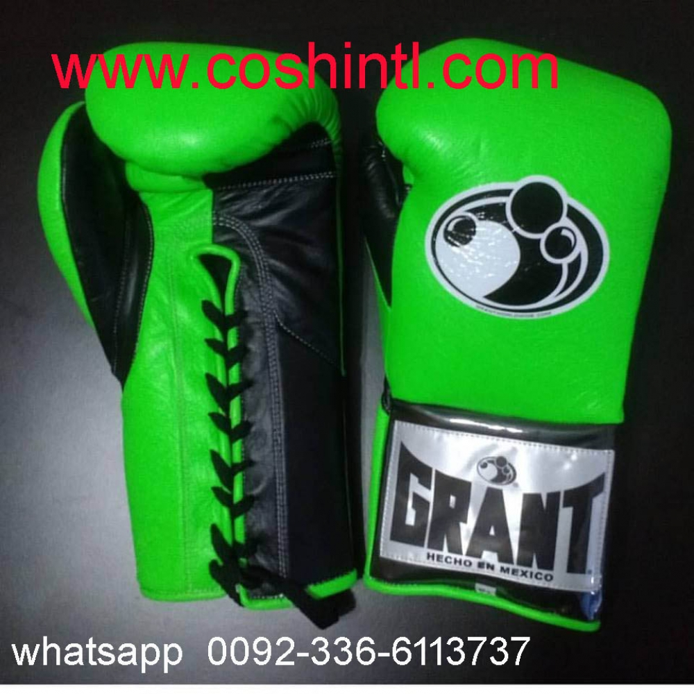 Green Grant Boxing Gloves - Images Gloves and Descriptions